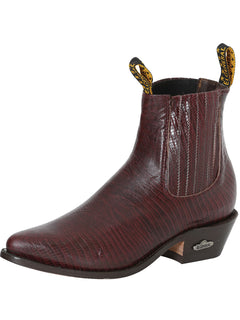 ANKLE BOOT EL GENERAL 20 IMITATION LIZARD LEATHER VINO
