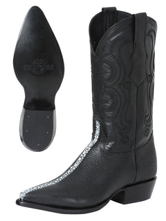 COWBOY BOOT EL SENOR DE LOS CIELOS SR-99 IMITATION STINGRAY BLACK