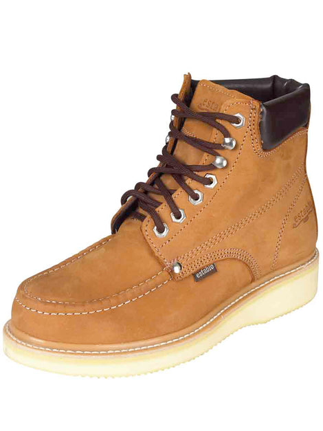 WORK BOOT ESTABLO 513-77 NUBUCK LEATHER BROWN
