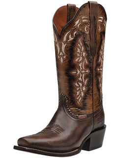 COWBOY BOOT RIO GRANDE LB-13 BELINDA OILED LEATHER BROWN