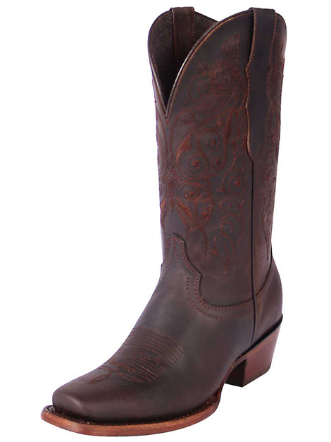 SQUARE TOE BOOT EDICION LIMITADA EL GENERAL SR-DR-13 CRAZY HORSE LEATHER CHOCO