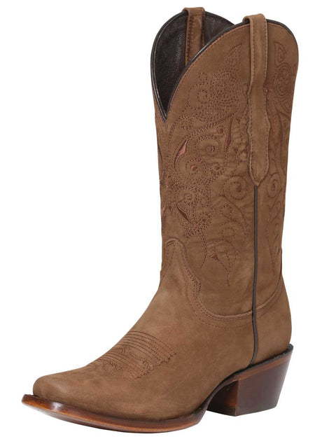 SQUARE TOE BOOT EDICION LIMITADA EL GENERAL SR-DR-11 NUBUCK LEATHER CAMEL