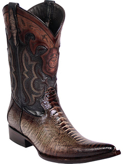 COWBOY BOOT EDICION LIMITADA EL GENERAL SR-VAQ-59 IMITATION OSTRICH LEG LEATHER SAND