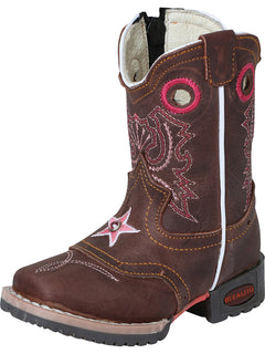 SQUARE TOE BOOT JAR BOOT'S 052 CRAZY BROWN