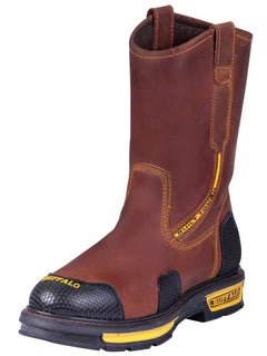 WORK BOOT BUFFALO & BULL 6218 CRAZY HORSE LEATHER HONEY