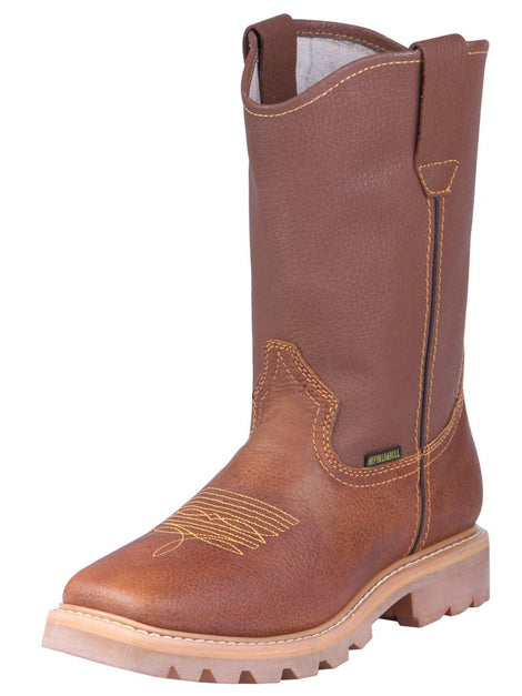 SQUARE TOE BOOT BUFFALO & BULL 234 FLOTTER LEATHER HONEY