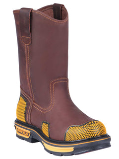 WORK BOOT BUFFALO & BULL 227 CRAZY HORSE LEATHER BROWN
