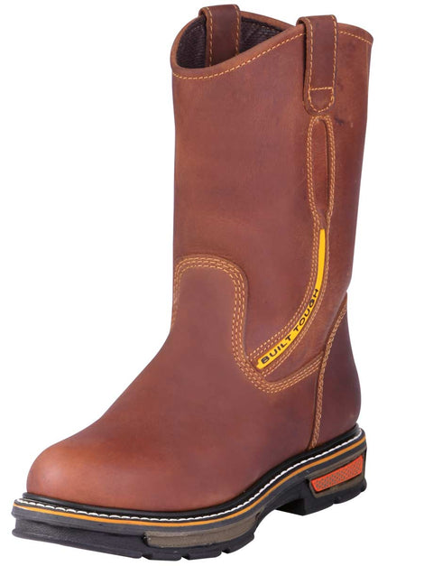 WORK BOOT BUFFALO & BULL 6214 CRAZY HORSE LEATHER HONEY