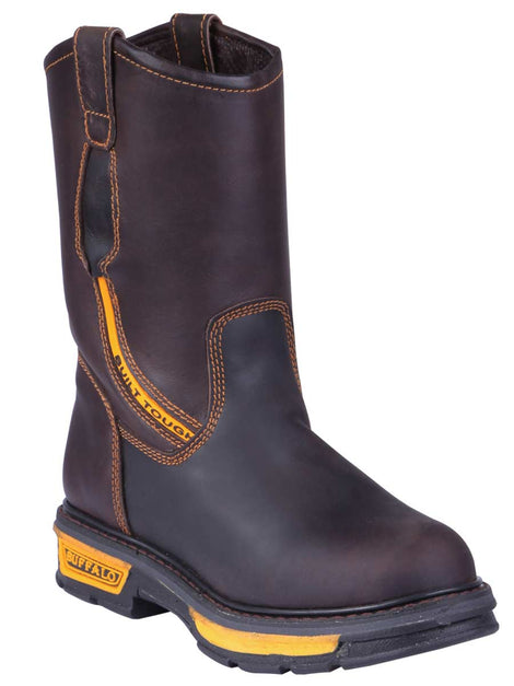 WORK BOOT BUFFALO & BULL 6214 CRAZY HORSE LEATHER BROWN