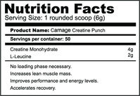 CARNAGE CREATINE PUNCH - Carnage | Energize Health
