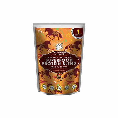 Wazoogles Organic Superfood Protein Blend Kungfu Coffee