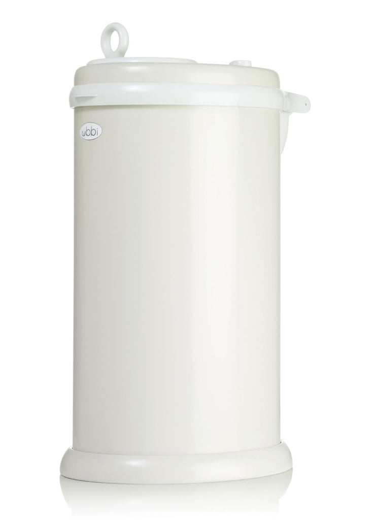 Ubbi Stainless Steel Diaper Pail - Ivory Sand
