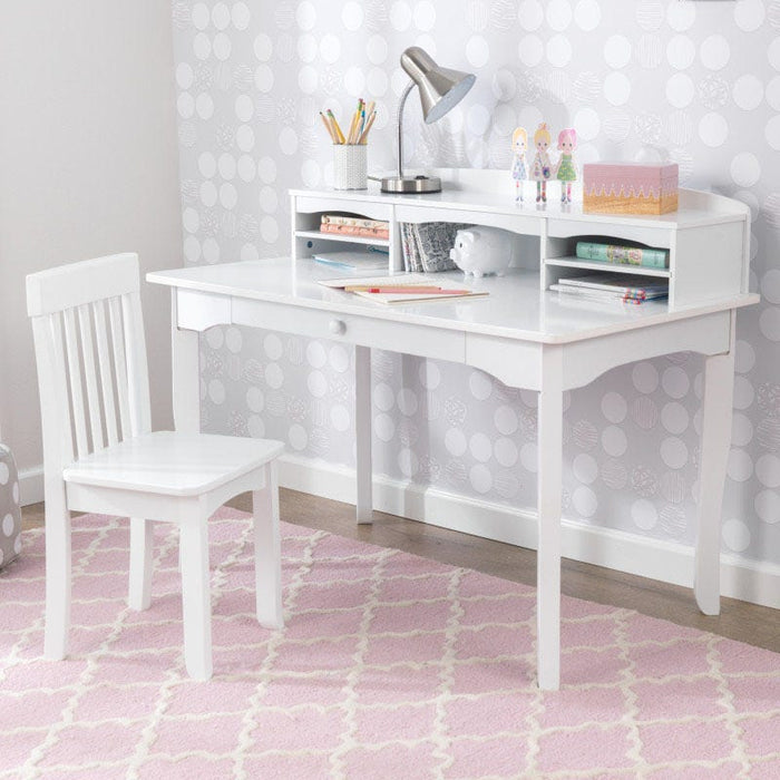 Kidkraft Avalon Desk With Hutch and Chair White