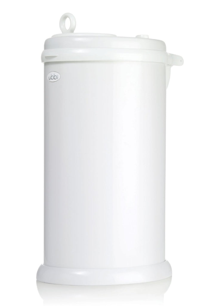 Ubbi Stainless Steel Diaper Pail - White