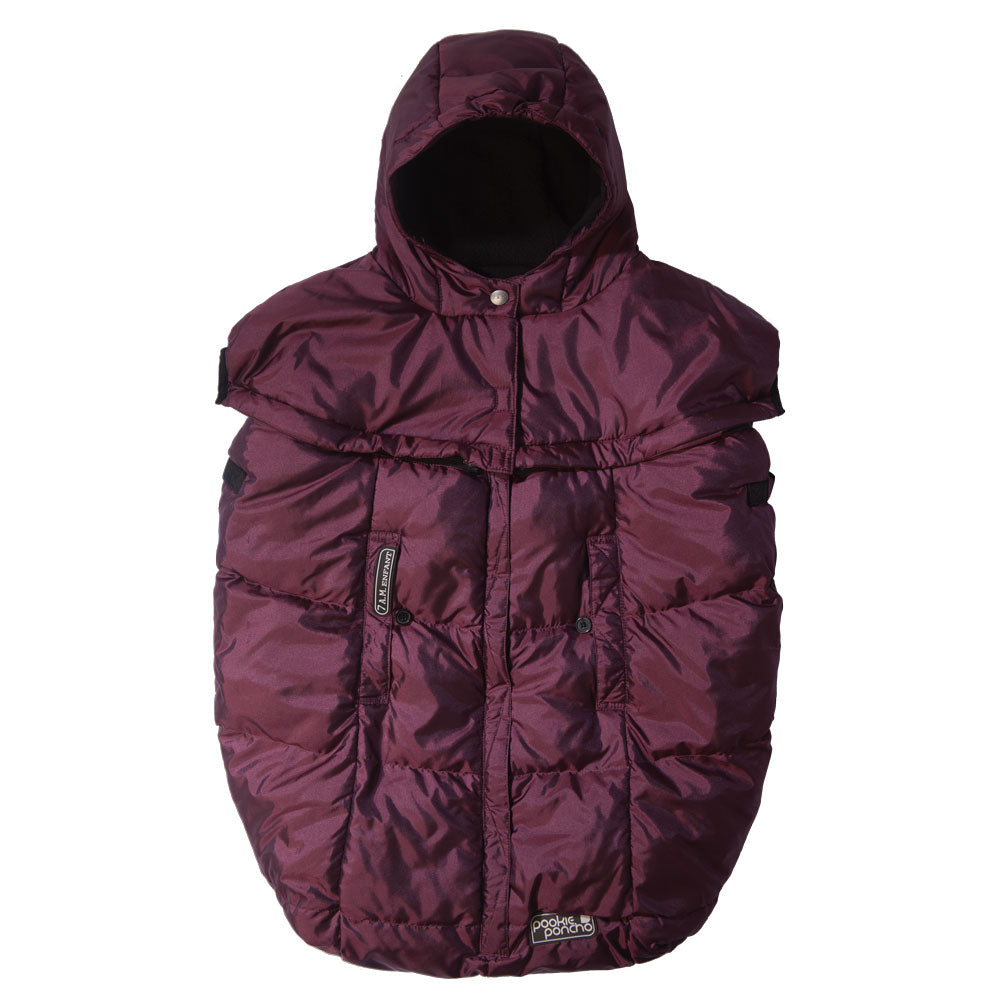 7 AM Enfant Pookie Poncho Cover - Metallic Plum