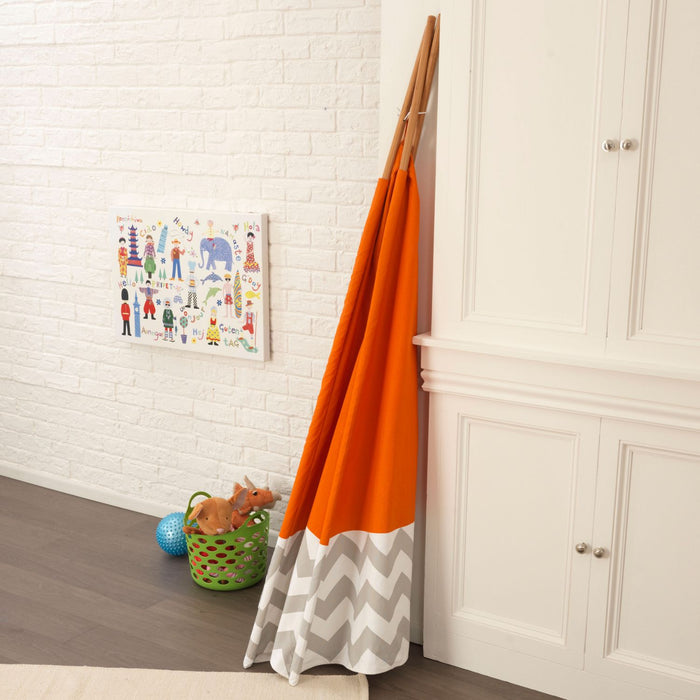 Kidkraft Deluxe Play Teepee Orange