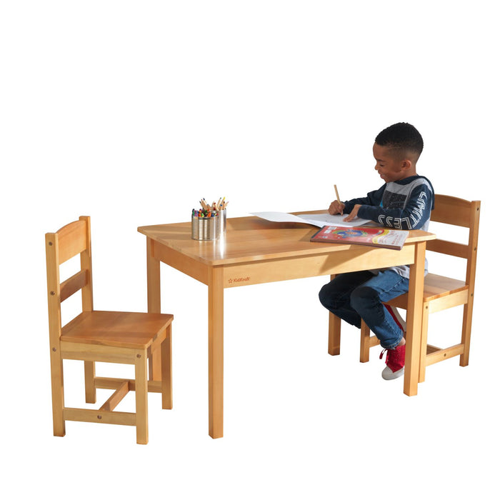 Kidkraft Rectangle Table 2 Chair Set Natural