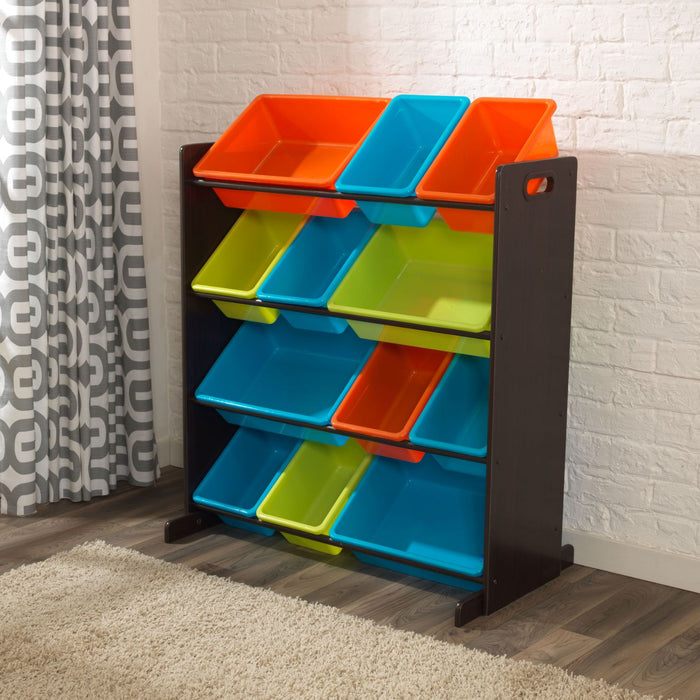 Kidkraft Sort It Store It Bin Unit Brights Espresso