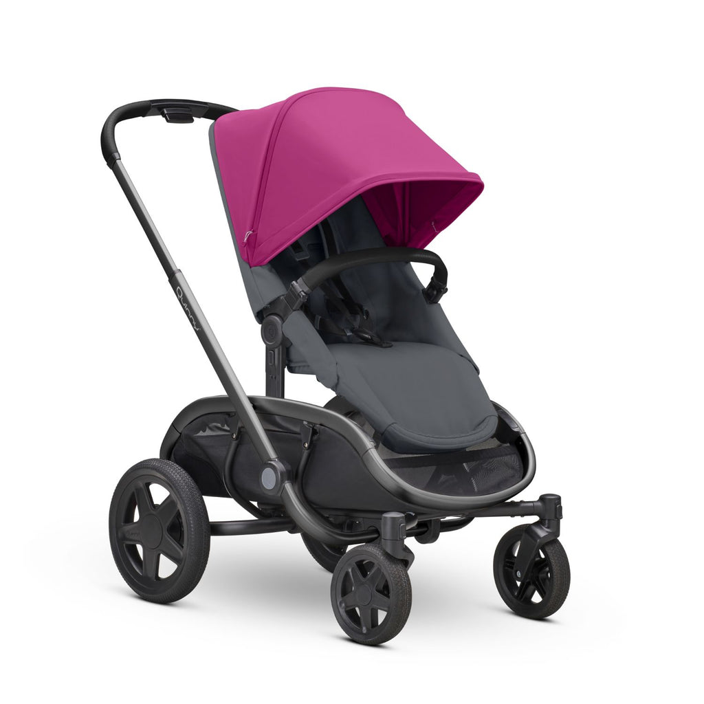 Quinny Hubb Stroller - Pink On Graphite