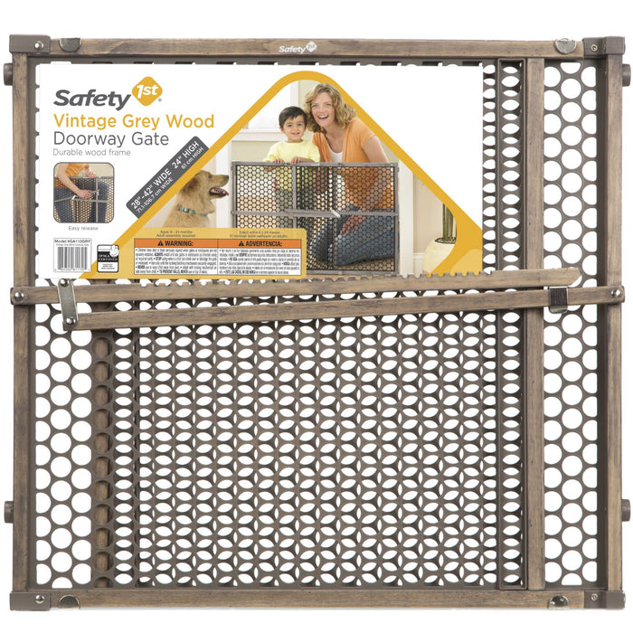 Safety 1st Grey Wood Security Gate