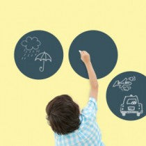 ChalkBoard Circles Big Wall Stickers