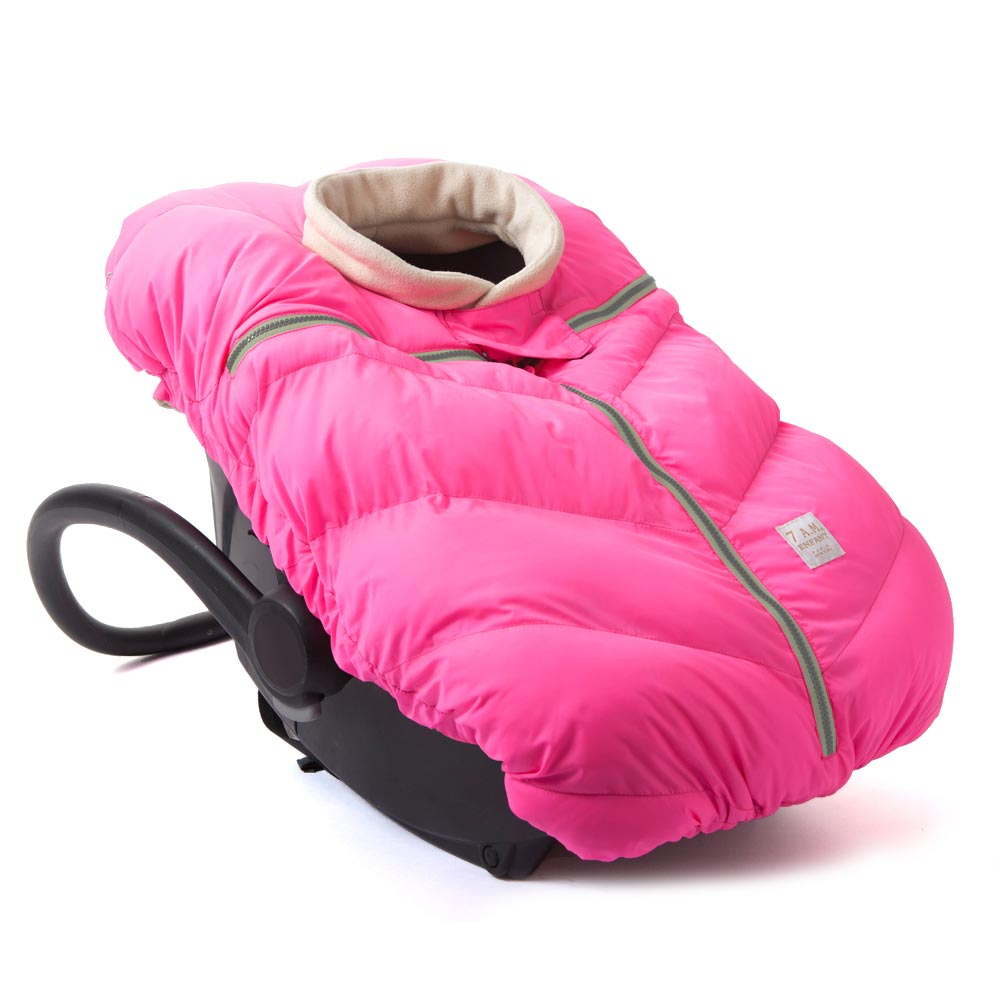 7 AM Enfant Cocoon Car Seat Cover - Neon Pink
