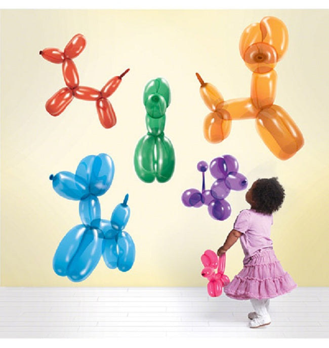 Dog Balloons Wall Stickers