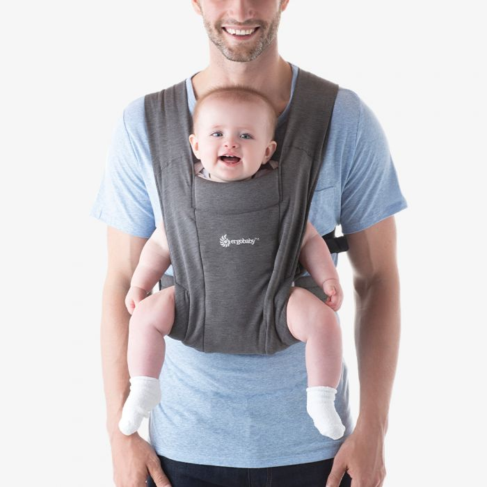 ErgoBaby Embrace Newborn Baby Carrier - Heather Grey