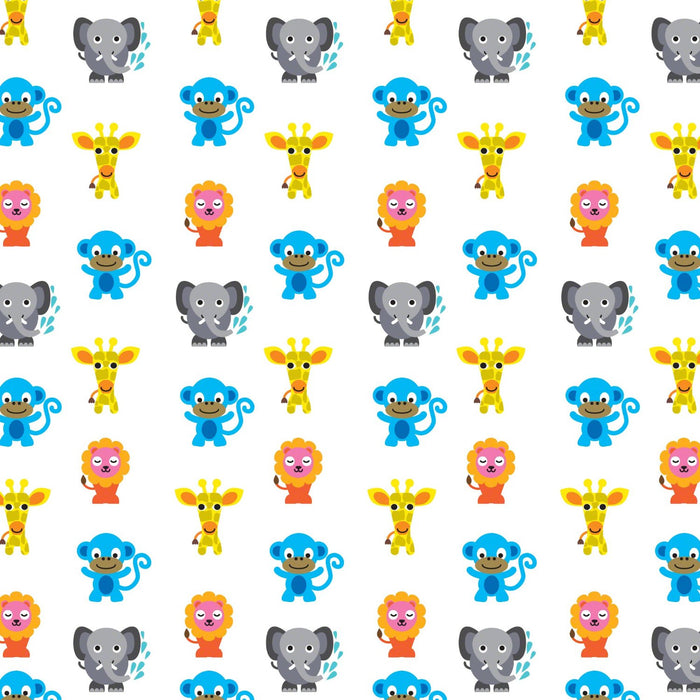 French Bull Jungle Party Wallpaper - Half Kit