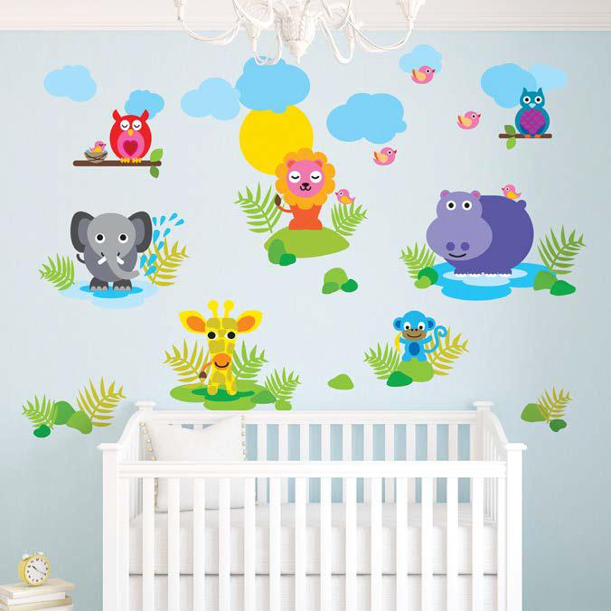 French Bull Jungle Wall Sticker