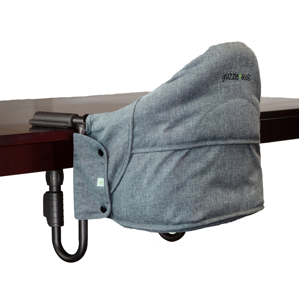 Perch Clip On Highchair - Salt & Pepper