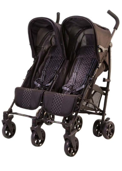 Twice Double Stroller - Black