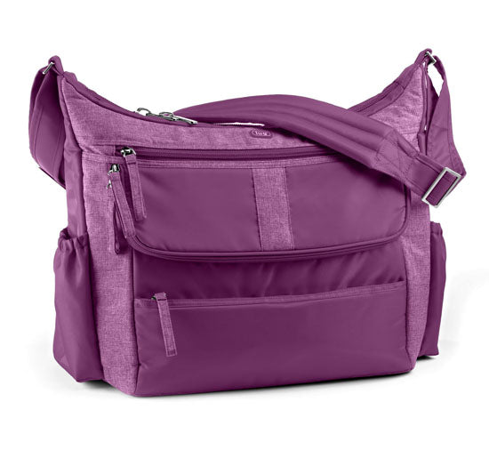 Lug Hula Hoop Carry All Messenger Bag - Plum Purple