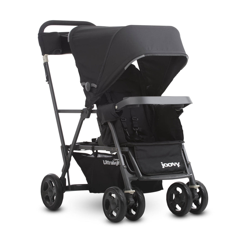 Caboose Ultralight Graphite Stand-on Tandem Stroller - Black