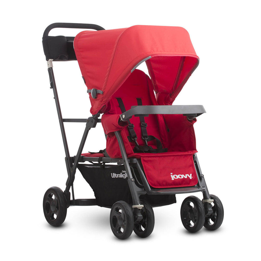 Caboose Ultralight Graphite Stand-on Tandem Stroller - Red