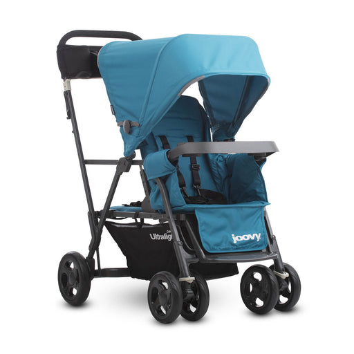 Caboose Ultralight Graphite Stand-on Tandem Stroller - Turquoise