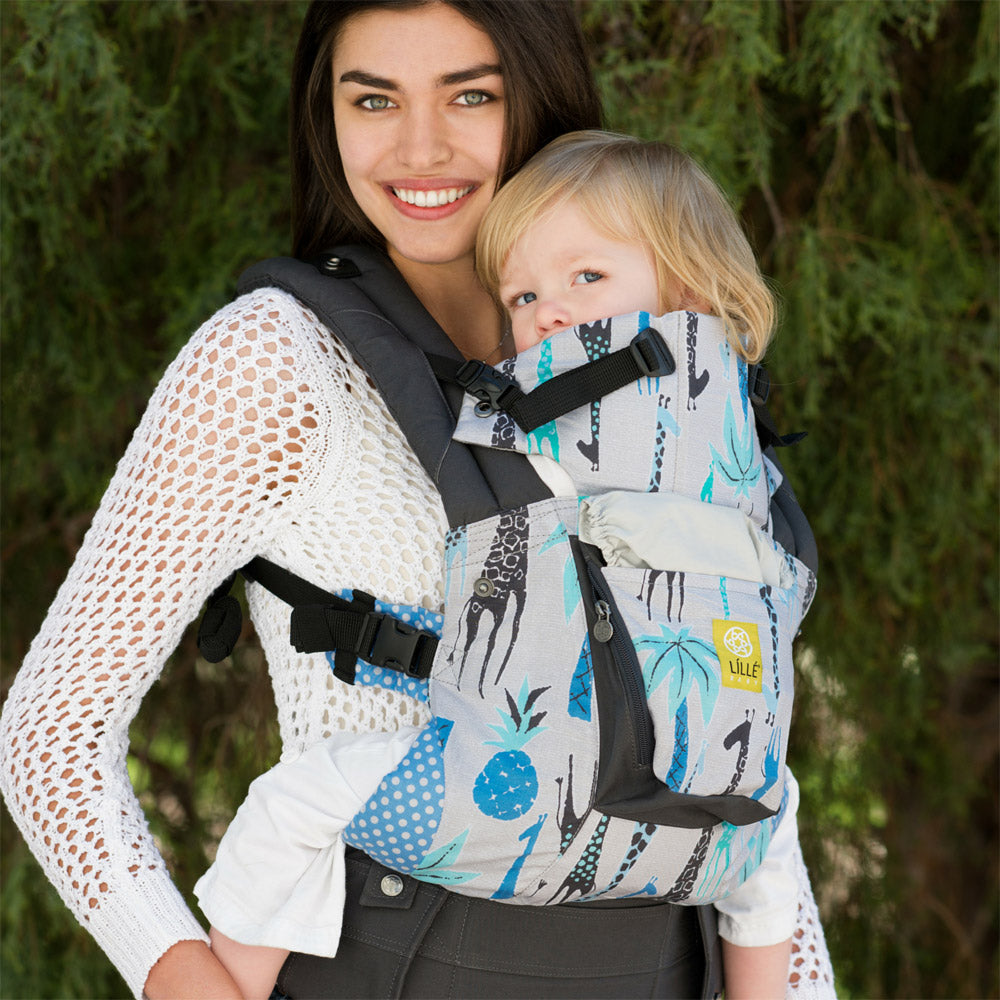 Lillebaby Original Baby Carrier - High Hopes Blue Giraffe