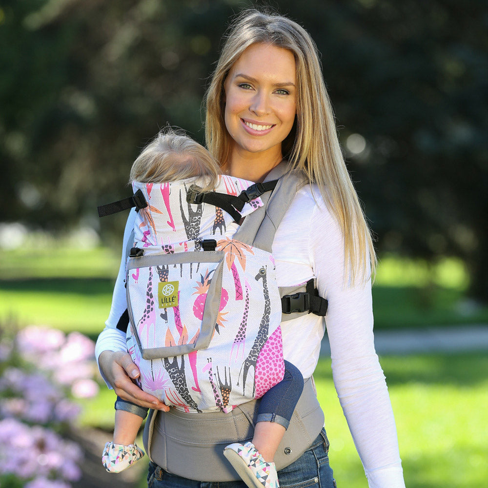Lillebaby Original Baby Carrier - High Hopes Pink Giraffe