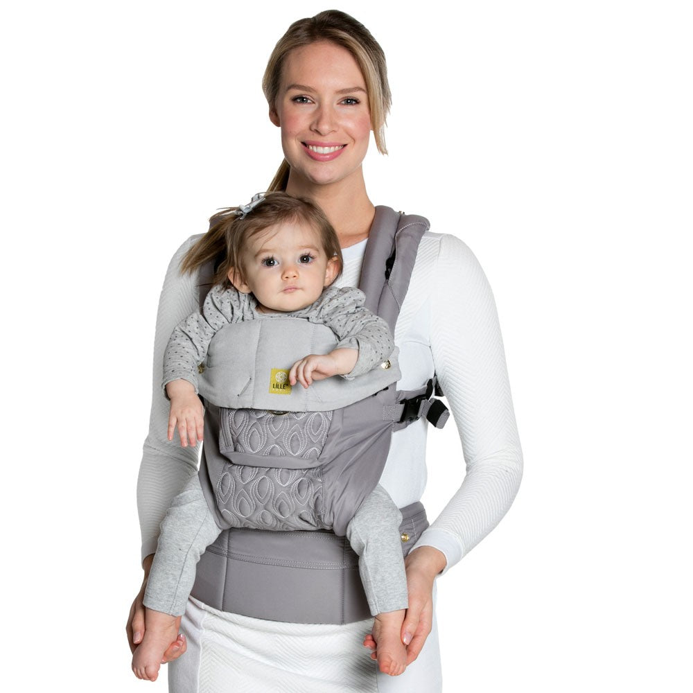 Lillebaby Baby Carrier Embossed - Luxe Pewter