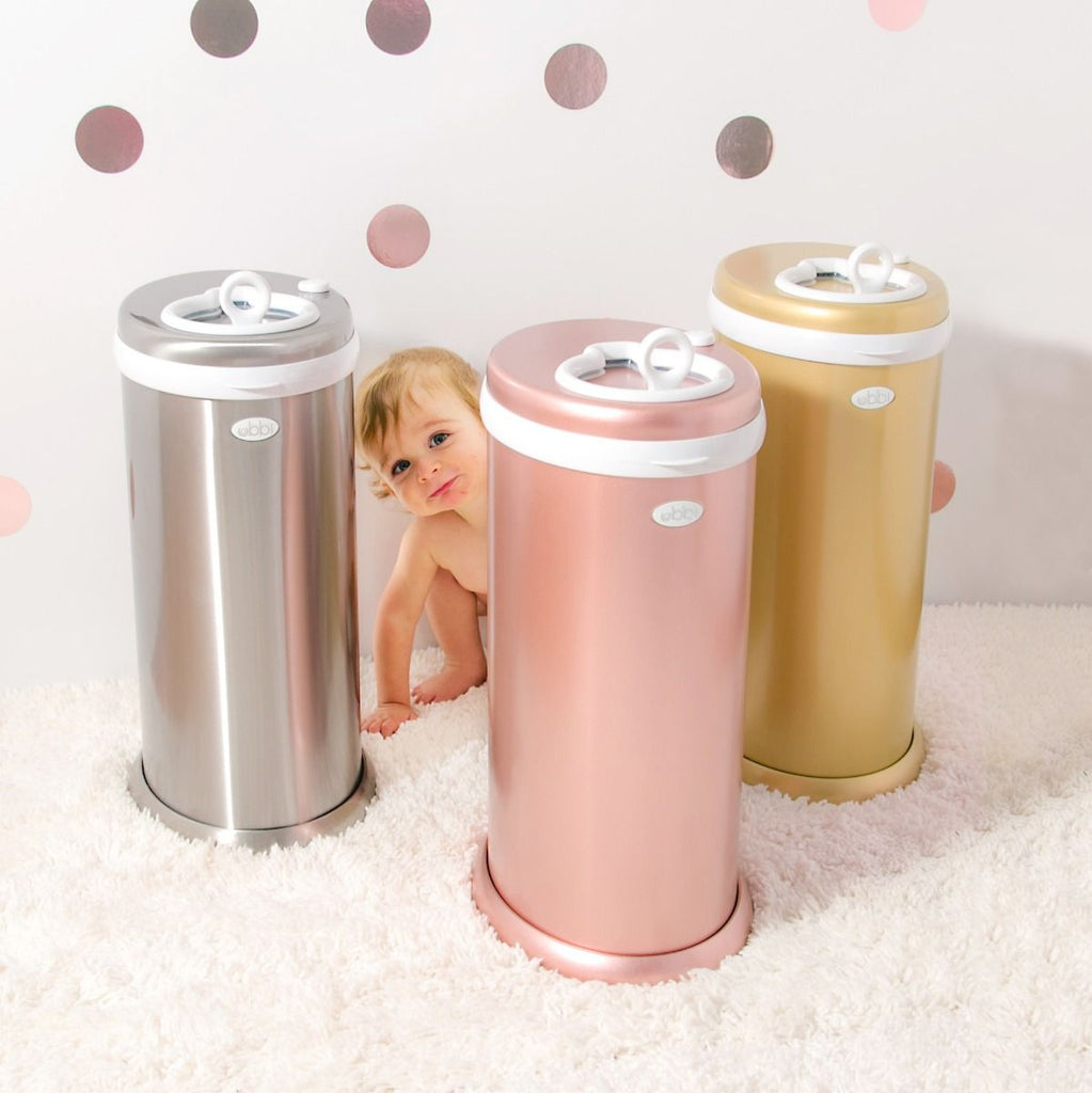Ubbi Stainless Steel Diaper Pail - Rose Gold