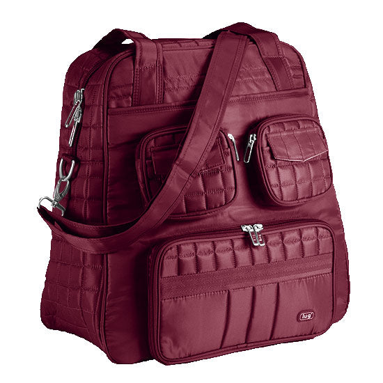 Lug Puddle Jumper Overnight Duffel Bag - Cranberry Red