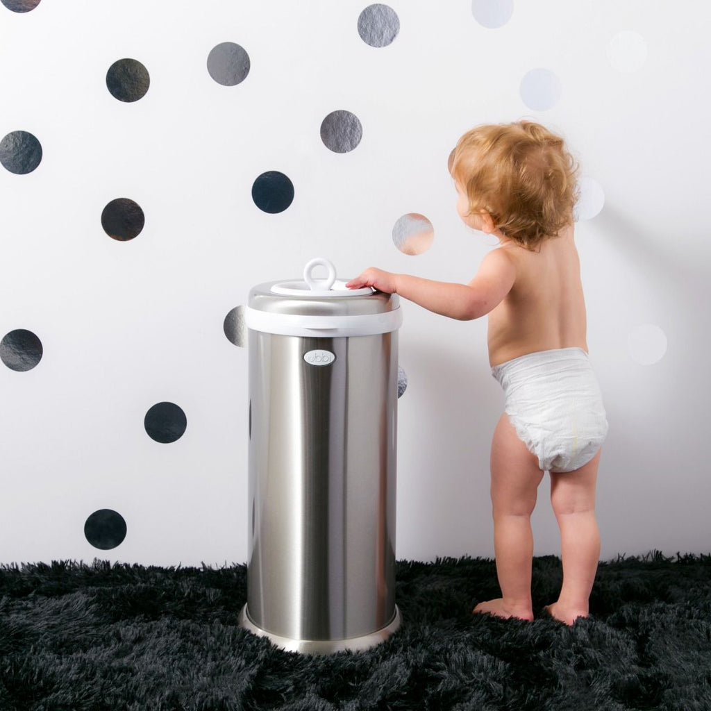 Ubbi Stainless Steel Diaper Pail - Chrome