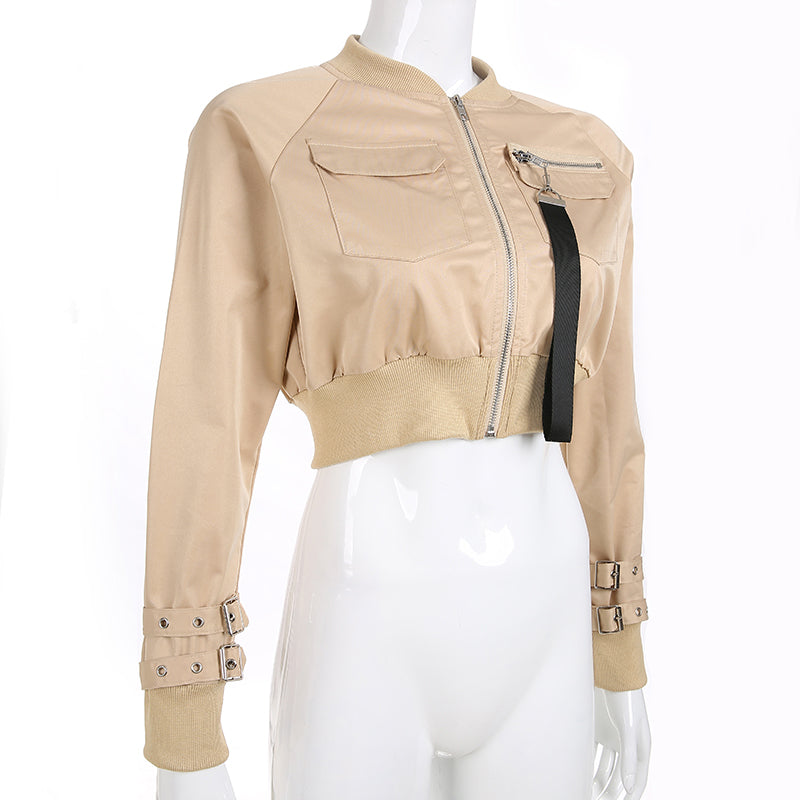 Cropped Bomber Jacket - 2 colors