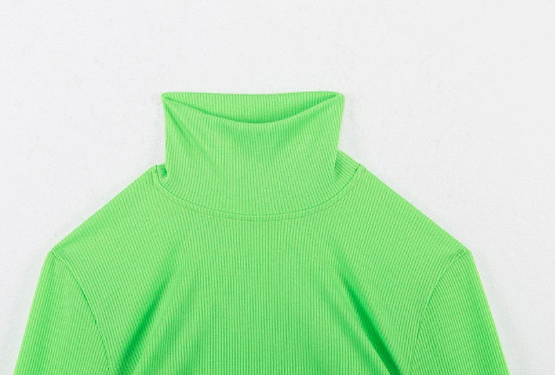 Neon Green Long Sleeve Top