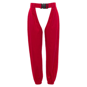Cut Out Festival Red Pants