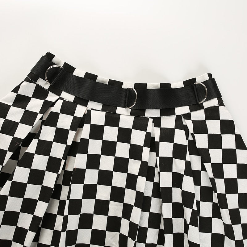 Checkerboard Skater Skirt