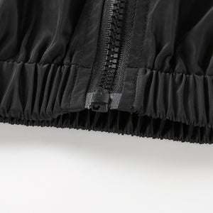 Wendy Black Cropped Bomber Jacket