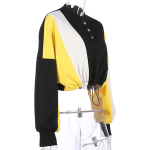 Adjustable Waist Tricolore Yellow Jumper