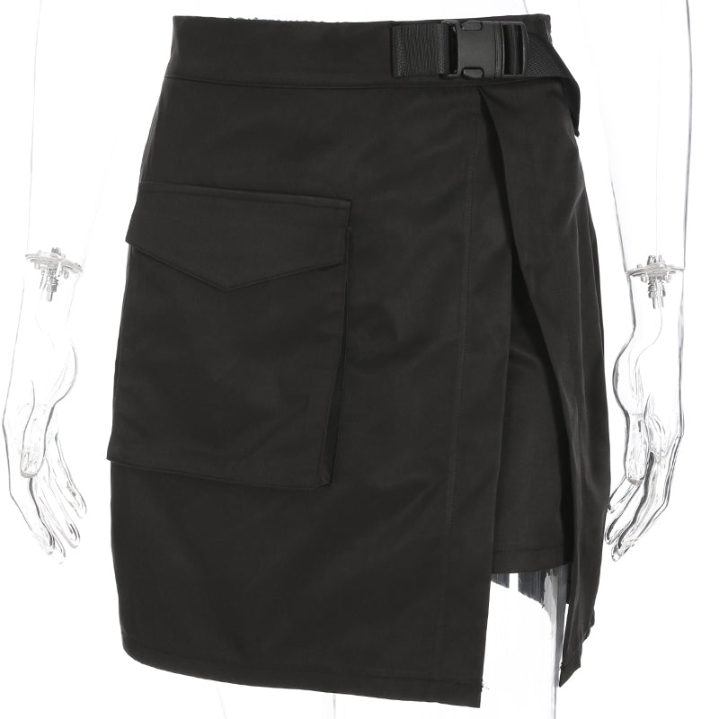 Osaka Clasp Belt Black Skirt
