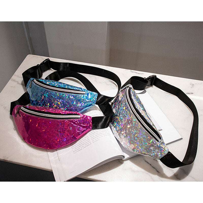 Glitter Holographic Cross Body Bag